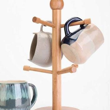 Bamboo Mug Tree- Brown One