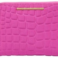Marc by Marc Jacobs Women's In a Bind Neoprene Cros Embossed Cosmetic Case, Pop Pink, One Size