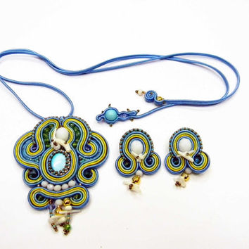 Summertime!  -Soutache Necklace Made in Italy Jewelry