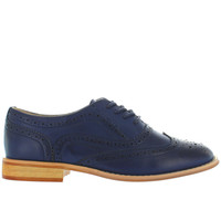 Wanted Babe - Navy Perforated Wing-Tip Oxford