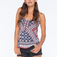 Full Tilt Boho Print Womens Tank Multi  In Sizes