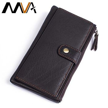 Men Leather Wallet Genuine Leather Wallets Men Wallets Matte Phone Money Clip Wallet Purse Bag Male Purse Clamp For Money