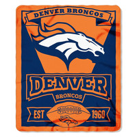 Denver Broncos NFL Light Weight Fleece Blanket (Marque Series) (50inx60in)