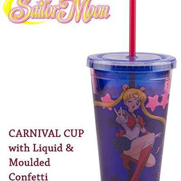 16oz OFFICIAL Sailor Moon PREMIUM Kawaii Tumbler Travel Cup Novelty GIFT (BPA Free)