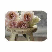 """Cristina Mitchell """"Roses on Stool"""" Floral Photography Place Mat"""
