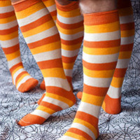 Socks by Sock Dreams » .Seasonal Socks »  Halloween »  Candy Corn Stripes