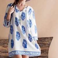 midsummer night's boho shift dress