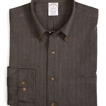 Brooks Brothers - BrooksFlannel® Regular Fit Herringbone Sport Shirt