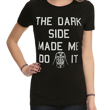 Star Wars Dark Side Made Me Girls T-Shirt