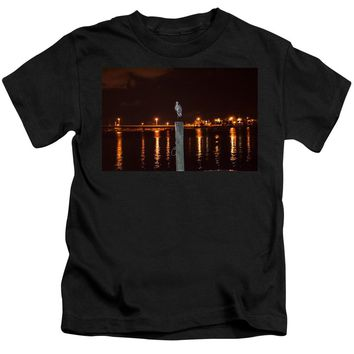 Blue Heron Night - Kids T-Shirt