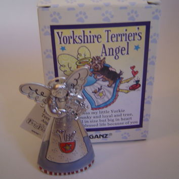 Yorkshire Terrier's Angel by Ganz Pet's Praises Angel and Dog Figurine