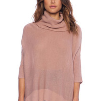 3/4 Sleeves Solid Color Sweater