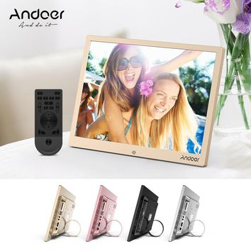 "Andoer 12"" LED Digital Photo Frame 1280 *800 Resolution Support 1080P Video Random Play w/Remote Control Christmas Birthday Gift"