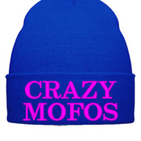 crazy mofos Bucket Hat - Beanie Cuffed Knit Cap