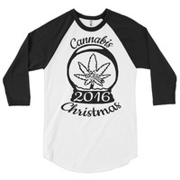 Limited Edition 2016 Cannabis Christmas 3/4 Sleeve T-Shirt by T420G from T420G Stash & Style