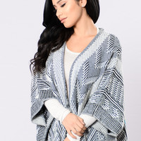 It's Cozy Inside Cardigan - Black/White