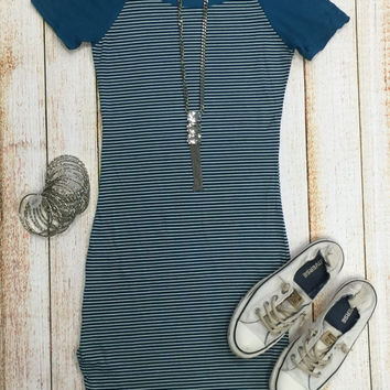 Home Team Tunic Dress: Teal