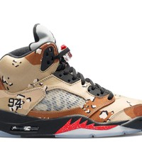 air jordan 5 retro supreme supreme basketball sneaker