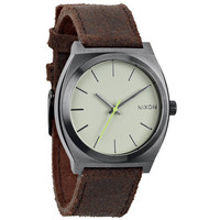 Nixon The Time Teller Watch Gunmetal/Brown One Size For Men 21257140001