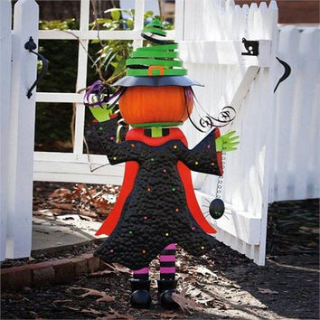 Halloween Pumpkin Stand - Fully Dressed Witch