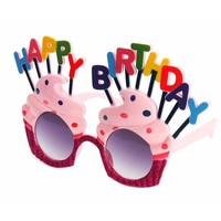 Happy Birthday Cupcake Novelty Glasses