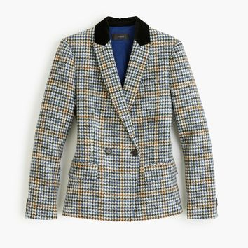 Dover blazer in houndstooth wool