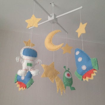 Space Mobile - Baby Mobile - Baby boy crib mobile - Cot Mobile -Nursery Decor - Boys Nursery - Space Nursery
