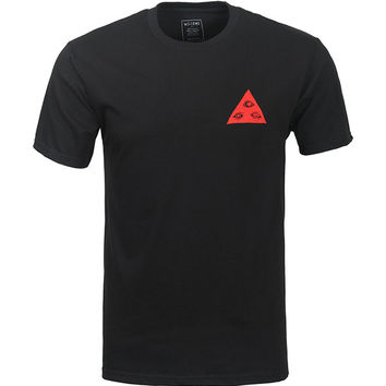 Welcome Talisman Tri-Color T-Shirt - Black/Red/Teal
