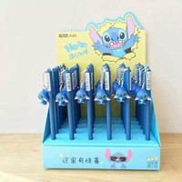 36 pcs Gel Pens Cartoon Stitch black colored kawaii gift gel-ink pens pens for writing Cute stationery office school supplies