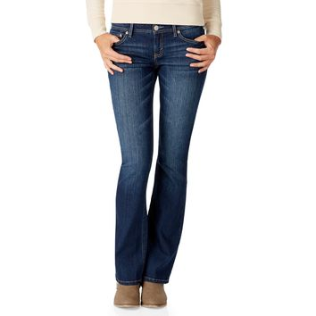 Aeropostale  Womens Chelsea Bootcut Core Dark Wash Jeans (Short)