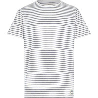 River Island Boys white blue stripe t-shirt