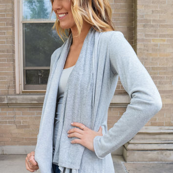 Warm Sherpa Cardigan Heather Grey