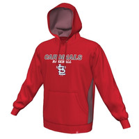 Majestic St. Louis Cardinals Rookie Phenom Synthetic Performance Pullover Hoodie - Red