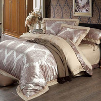 PRINCESS 4-Piece Luxury Bedding Duvet Cover Set - Latte (KING, QUEEN)
