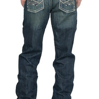 Wrangler Men's Rock 47 Slim Fit Boot Cut Guitar Jean