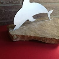 Dolphin set in Flag Stone room decoration