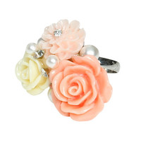 Pastel Flower Cluster Ring | Shop Accessories at Wet Seal