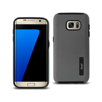 Samsung Galaxy S7 Edge Solid Armor Dual Layer Protective Case In Gray