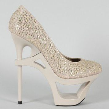 Privileged Prevee Stingray Studded Cut Out Platform Pump