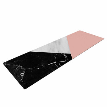"Cafelab ""Marble Collage With Pale Pink ""  Gray Pink Yoga Mat"