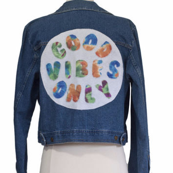 Good Vibes Only Jean Jacket