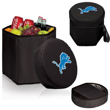 Detroit Lions 'Bongo' Cooler & Seat-Black Digital Print