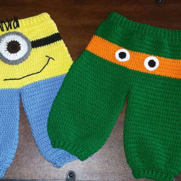 Crochet Crazy Character Pants Newborn - 24 months (can be adapted easily for 2T-4T)