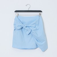 Crossed Fingers Mini Skirt - Blue