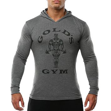 Sportswear Tracksuits Mens Bodybuilding Clothing Golds Gyms Hoodies and Sweatshirts Man Shirts Cotton Fitness Slim Hoodie