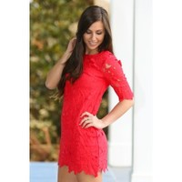 Your Sweet Smile Tunic-Cherry