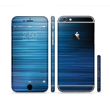 The Dark Blue Streaks Sectioned Skin Series for the Apple iPhone 6