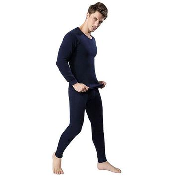 DCCKJG2 New Winter Warm Men's Comfortable Thermal Underwear Sets Thick Thermal  Long Johns Underwear