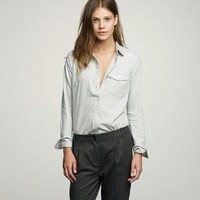 Women's shirts & tops - casual shirts - Rustic twill boy shirt - J.Crew