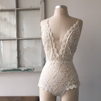 Bride to Be Ivory Lace Lingerie Teddy